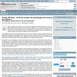 Procès API Java : en fin de compte, de quoi Google est-il accusé par Oracle ? De violation de droits d'auteur ou de vol d'opportunité ?