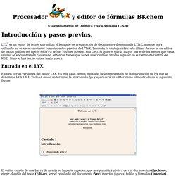 Procesador y editor de fórmulas BKchem