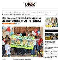 Con procesión y misa, hacen visibles a los desaparecidos de Lagos de Moreno