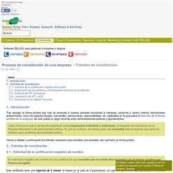 Proceso de constitución de una empresa - Trámites de constitución - Área de Pymes
