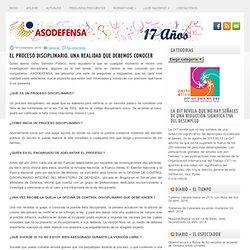 El Proceso Disciplinario -Colombia - Asodefensa