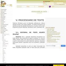 PROCESOARE DE TEXTE