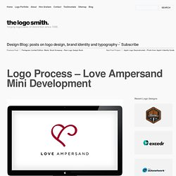 Logo Process – Love Ampersand Mini Development