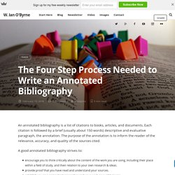 The Four Step Process Needed to Write an Annotated Bibliography