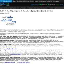 Guide To The Whole Process Of Choosing a Domain Name & its Registration - Bagful