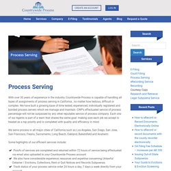 CT Corp Process Server and CT Corporation System Process Server California