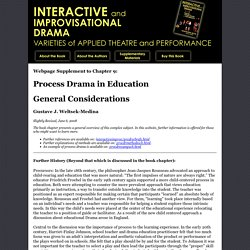 Process Drama in Education