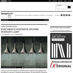 Design Process: Foscarini's Concrete Aplomb Pendant Lamp