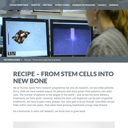 Process of growing bone from stem cells