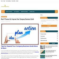 Best 7 Process For Improve Your Company Business Groth
