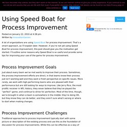 Using Speed Boat for Process Improvement