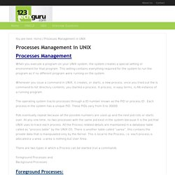 process management in unix