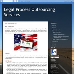 Legal Process Outsourcing Services: What is H1B Visa?