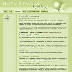 Living in Process - Overview of Workshops