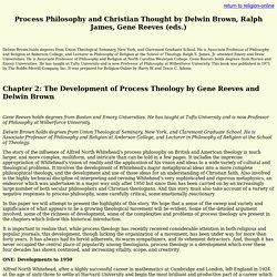 Process Philosophy and Christian Thought
