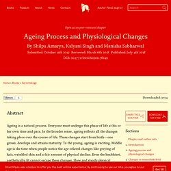Elderly's development: Ageing process and physiological changes