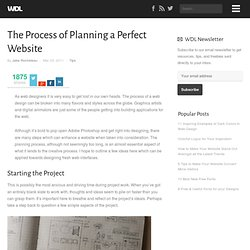 The Process of Planning a Perfect Website | Tips