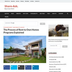 The Process of Rent to Own Homes Programs Explained – Share-Ask.