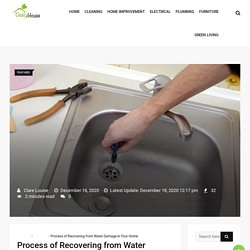 Process of Recovering from Water Damage in Your Home