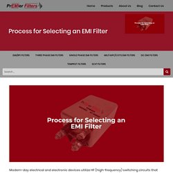 Process for Selecting an EMI Filter — Blog Published By Premier Filters