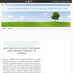 Best Process to Select Software Development Company in London - salesforceconsultantlondon.over-blog.com