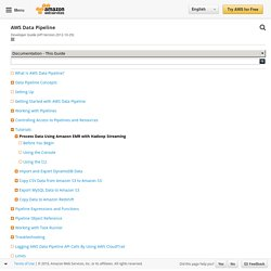 Process Data Using Amazon EMR with Hadoop Streaming - AWS Data Pipeline