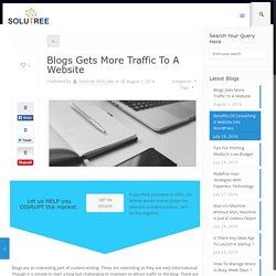 Process To Get More Traffic To A Website Through Blogs