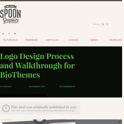 Logo Design Process and Walkthrough for BioThemes