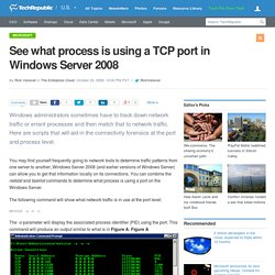 See what process is using a TCP port in Windows Server 2008