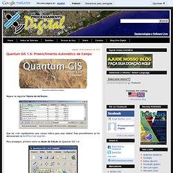 Quantum GIS 1.6: Preenchimento Automático de Campo
