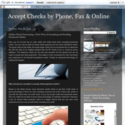 What You Need to Know About Check Verification Online and Electronic Checks