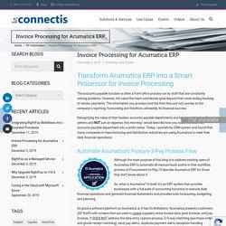 Invoice Processing for Acumatica ERP