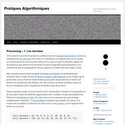 Pratiques Algorithmiques