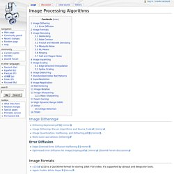 Image Processing Algorithms - Avisynth wiki