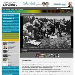 Processing and routines at the Concentration Camps - Key Stage 3 - The Holocaust Explained