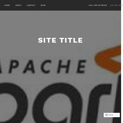 Large-Scale Data Processing Frameworks – What Is Apache Spark…..? – Site Title