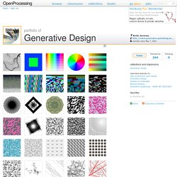 The Processing Portfolio of Generative Design