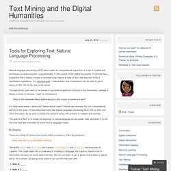 Tools for Exploring Text: Natural Language Processing