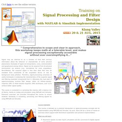 Training on Signal Processing & Filter Design with MATLAB & SIMULINK Implementation