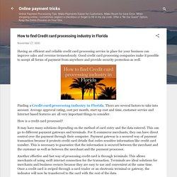 How to find Credit card processing industry in Florida