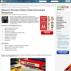 Outsource Insurance Claims: Claims Processing & Management by Mika Edword