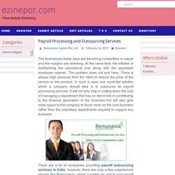Payroll Processing and Outsourcing Services – ezinepot.com