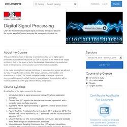 Digital Signal Processing - École Polytechnique Fédérale de Lausanne