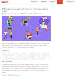 Order processing steps in multi restaurant online food ordering system
