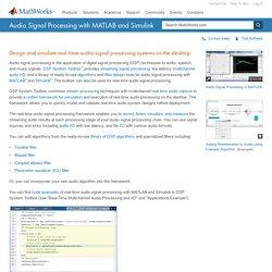 Audio Signal Processing with MATLAB and Simulink - MATLAB - MathWorks United Kingdom