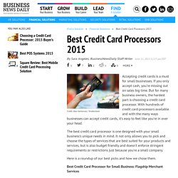 Best Credit Card Processing Solutions for Business in 2015
