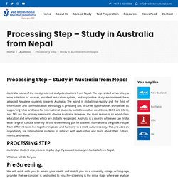 » Processing Step – Study in Australia from Nepal