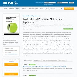 INTECH 22/02/13 Food Industrial Processes - Methods and EquipmentComputer-Based On-Line Assessment of Sterilizing Value and Heat