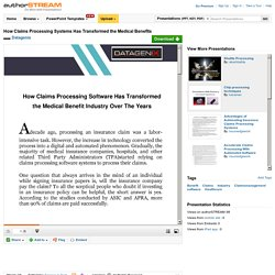 How Claims Processing Systems Has Transformed the Medical Benefits..