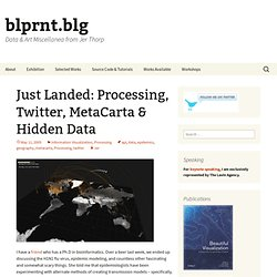 Just Landed: Processing, Twitter, MetaCarta & Hidden Data